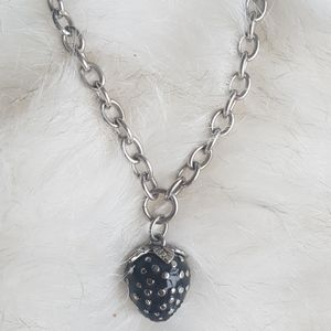 Miss sixty black cherry chain choker necklace